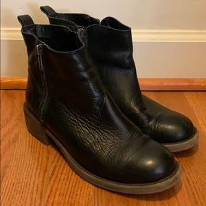 Black Lucky Brand Leather Booties